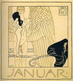 January, Gustav Klimt