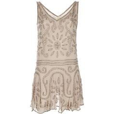 ANNA SUI Beaded dress ($333) ❤ liked on Polyvore