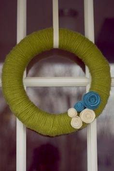 wreath - make something like this in white and red