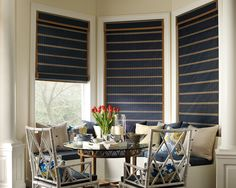 Hand-woven from versatile, light-filtering reeds, grasses and woods, our Provenance Woven Wood Shades come in five styles and transform sunlight into captivating design statements. Comes in many differnt colors and valence types.