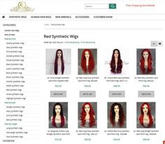 Red Lace Front Wig, Hair Front, Front Hair Styles, Synthetic Lace Front Wigs, Synthetic Wigs, Red Ombre Hair, Red Wigs, Free Shipping, Beauty