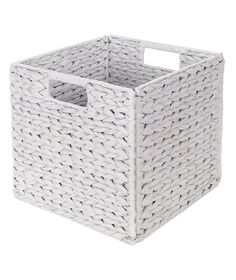 Buy Water Hyacinth Cube - White at Argos.co.uk - Your Online Shop for Storage baskets and boxes.