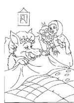 Little Red Riding Hood and the Wolf Coloring Page