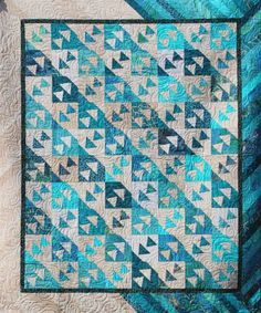 Three Ducks in a Row ~ Quiltworx.com made by Certified Instructor, Catherine Erickson