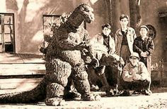 The Godzilla and Anguirus suits built for the unproduced The Volcano Monsters.