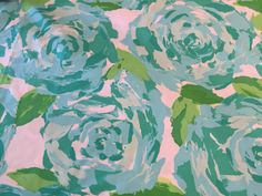 Lilly Pulitzer Poolside Blue First Impression fabric piece. Lilly Pulitzer Fabric, Blue Fabric, Painting, Art, Art Background, Painting Art, Paintings, Kunst, Drawings
