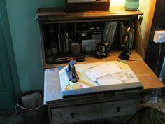 Leonard's Desk at Monk's House by ekaysparks, via Flickr