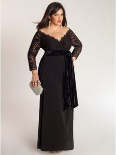 IGIGI has pretty gowns for plus sized women.