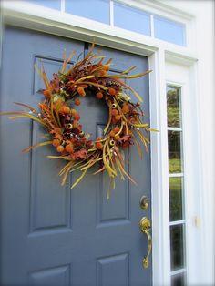 Fall Wreath,  Autumn Door Wreaths, Door Wreaths for Fall, Fall Door Decor, Brown Wreath