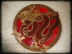 Laser cut stain glass dragon