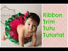 HOW TO: Make a Ribbon Trim Tutu by Just Add A Bow. Link download: http://www.getlinkyoutube.com/watch?v=YAt6dBY3gqU