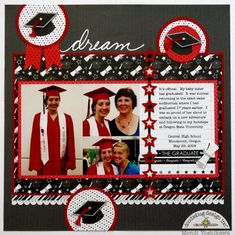 Embellish graduation cards or layouts with the Icons Cardstock Stickers from The Graduates Collection by Doodlebug Design. These cute stickers are fun to use Senior Year Scrapbook, School Scrapbook Layouts, Graduation Scrapbook, Scrapbook Layout Sketches, 12x12 Scrapbook, Scrapbook Designs, Graduation Cards, Scrapbooking Layouts, Graduation Ideas