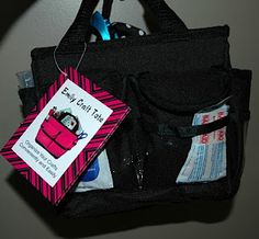 Prepared NOT Scared!: Preparedness Project - Travel Bag! - I got this little bag at WalMart for a little over $7.00 and filled it with activities for the girls that they could use in the car but that could also come into a hotel and a resturant to help entertain them.