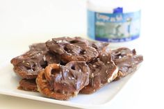 """Salted Chocolate Caramel Pretzel Bark """"Snappers"""" I love this stuff -- super addictive! Recipes Appetizers And Snacks, Snack Recipes, Dessert Recipes, Pretzel Bark, Salted Caramel Chocolate, Sweet Sauce, No Bake Treats, Love Food, Sweet Recipes"""
