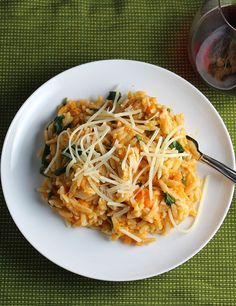 Orzo with Leftover Turkey and Sweet Potatoes is a delicious way to use leftover turkey! A great Thanksgiving weekend option.