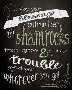 irish chalk board quotes