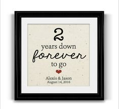 2nd anniversary gift idea. This is the 2nd anniversary cotton gift I ...