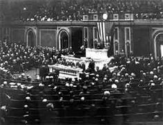 On April 6, the US declared war on Germany. The vote was 90-6 in the Senate, and 373-50 in the House. The increase in U-boat activity by Germany; combined with the interception of the Zimmerman telegram, promising Mexico it would regain part of the United States if it entered the war on the German side; precipitated the fianl American decision to go to war.