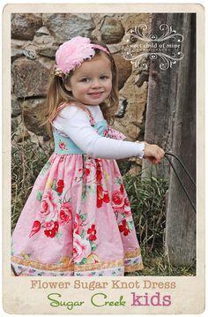 Floral Knot DressHandmade at Sugar Creek Kids by SugarCreekKids, $45.00