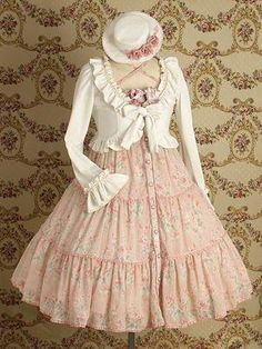 Tiered dress, sweater & hat from Mary Magdalene Dress (Dress Company in Japan) http://www.marymagdalene.jp