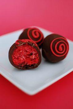 Red Velvet Cheesecake Cake Truffles