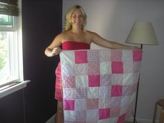 Turn your old bridesmaid dress into a baby quilt for the bride, this is so cute!