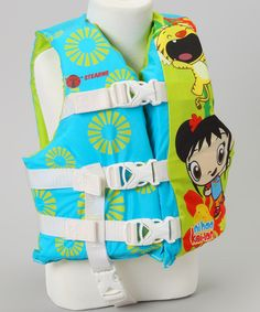 Featuring a playful print and comfy construction, this small life jacket was especially designed for kids. Adjustable straps with sturdy buckles ensure a secure fit. Weight capacity: 30 to 50 lbs. Polyester / foamImported