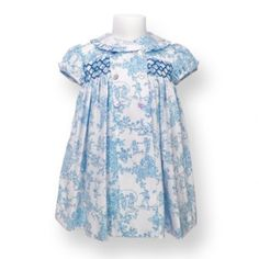 Classic Toile Smocked Dress
