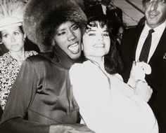 Grace Jones and Maria Shriver at Studio 54 by Andy Warhol, 1978
