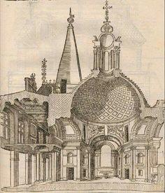 """Meraviglioso spaccato tratto da """"Architecture de Philibert de l'Orme"""", edizione del 1648. Dottrina dell'Architettura Architetto David Napolitano"""