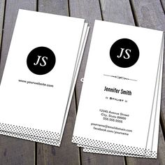 Stylist - Clean Black White Business Card