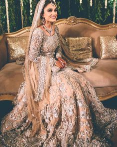 Fishtail Wedding Dresses With Sleeves .Fishtail Wedding Dresses With Sleeves Asian Bridal Dresses, Indian Bridal Outfits, Pakistani Wedding Outfits, Pakistani Wedding Dresses, Indian Dresses, Asian Bridal Wear, Indian Wedding Gowns, Desi Wedding Dresses, Party Dresses