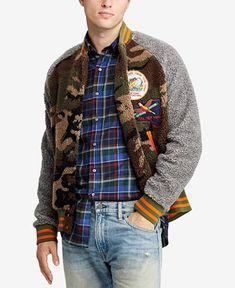 76d5982a6c5 Shop Polo Ralph Lauren Men s Big  amp  Tall Great Outdoors Camo Fleece Baseball  Jacket online