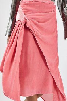 SHOP | Topshop Velvet Sash Skirt by Boutique