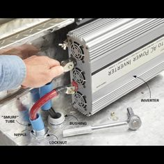 Generate power for corded tools without the cost and hassle of a gas-powered generator by wiring a power inverter to your truck battery. Generator Box, Gas Powered Generator, Emergency Generator, Inverter Generator, Generators, Laura Lee, Diy Household Tips, Cleaning Tips, Truck Mods