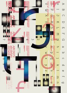 Planche typographique : ViewWriter by Studio My Name is Wendy, via Behance Poster Layout, Print Layout, Graphic Design Posters, Graphic Design Typography, Typography Inspiration, Graphic Design Inspiration, Illustration Design Graphique, Monospace, Graph Design