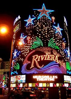 Riviera Hotel and Casino.  Another old Casino gone. They opened in 1955 and closed in 2015.  www.all-chips.com has a lot of chips for sale from here.