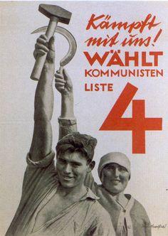 a communist election poster designed by John Heartfield, a staunch communist in Weimar around 1930