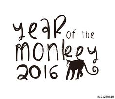 Vector: 2016 year of the monkey