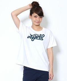 X-girl(エックスガール)のARROW LOGO S/S BIG TEE(Tシャツ/カットソー)|ホワイト