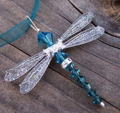 Dragonfly Necklace - Birthstones & 28 More Swarovski Colors - Silver Toned Dazzlefly. $24,00, via Etsy.