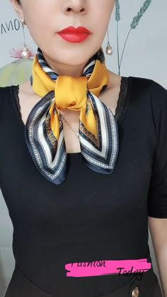 Ways To Tie Scarves, Ways To Wear A Scarf, How To Wear Scarves, Scarf Wearing Styles, Scarf Styles, Diy Fashion, Fashion Outfits, Fashion Tips, Scarf Tying Tutorial