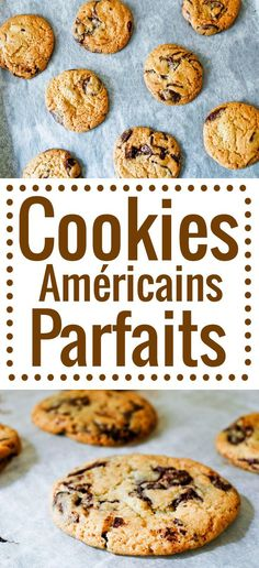 Cookies au chocolat Recette