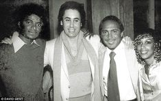 Another photo from the same year shows the pair withsinger Paul Anka and Michael's sister-in-law Dee Dee