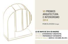 Se presenta la VII edición de los Premios Arquitectura e Interiorismo para 2014 #Porcelanosa #Arquitectura #Interiorismo #Premios2014 #innovación #diseño