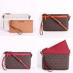 7f060e3a2289 NWT Michael Kors JET SET 2 In 1 Large Pocket Messenger Crossbody Bag W   Wristlet