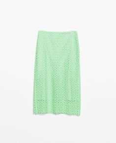 Laced mint skirt from Zara