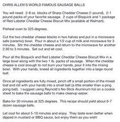 Chris Allen's World Famous Sausage balls...yum