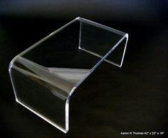 Waterfall glass coffee table