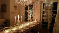 Table Settings, Chandelier, Ceiling Lights, Lighting, Home Decor, Homemade Home Decor, Candelabra, Table Top Decorations, Ceiling Light Fixtures